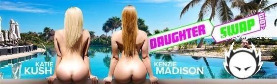 Katie Kush, Kenzie Madison - Steamy Daughter Pool Sex (2020/DaughterSwap.com/TeamSkeet.com/HD)