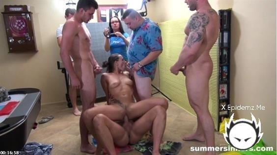 Nasty Slut - Gangbang By All The Guys (2020/SummerSinners.com/SD)